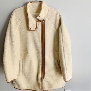 Madewell Sherpa Cocoon Coat XXL